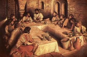 Passover with Jesus and disciples